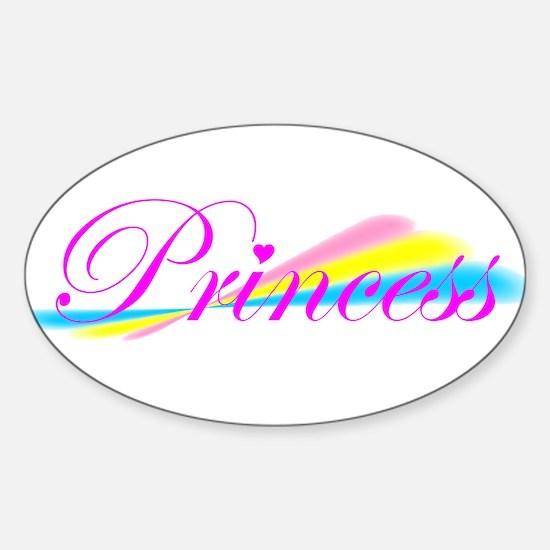 Rainbow Princess Oval Decal