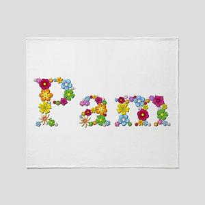 Pam Bright Flowers Throw Blanket