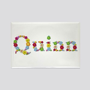 Quinn Bright Flowers Rectangle Magnet