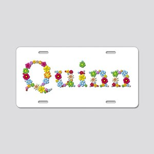 Quinn Bright Flowers Aluminum License Plate
