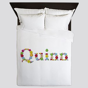 Quinn Bright Flowers Queen Duvet
