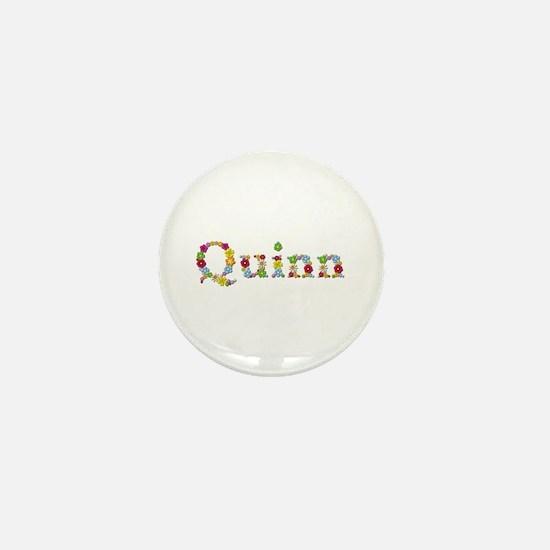 Quinn Bright Flowers Mini Button