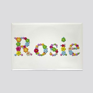 Rosie Bright Flowers Rectangle Magnet