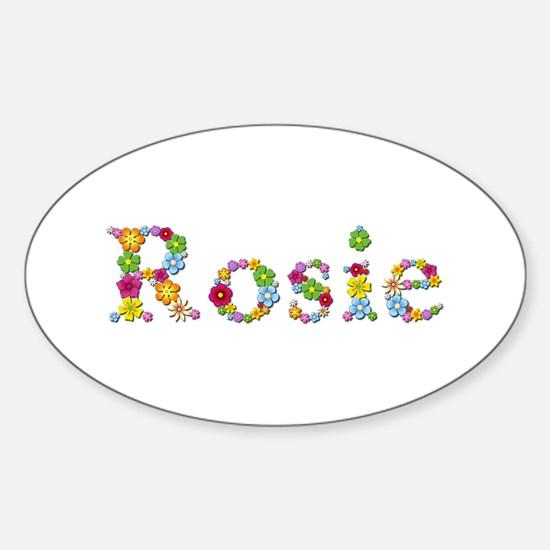 Rosie Bright Flowers Oval Decal