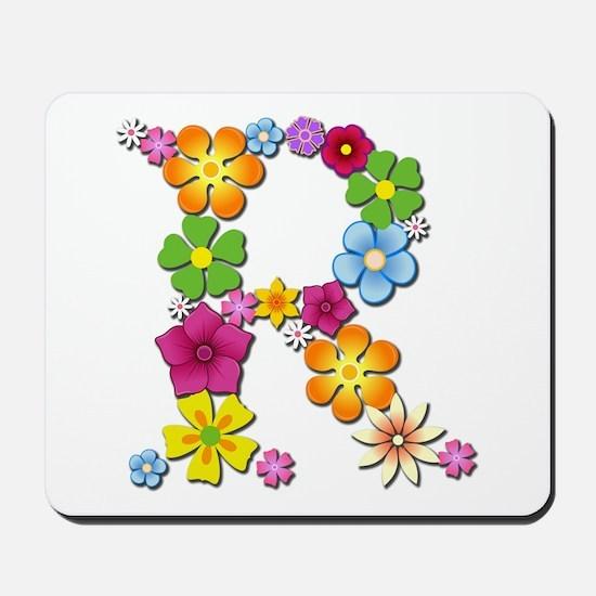 R Bright Flowers Mousepad