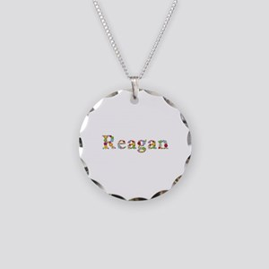 Reagan Bright Flowers Necklace Circle Charm