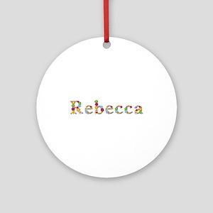Rebecca Bright Flowers Round Ornament
