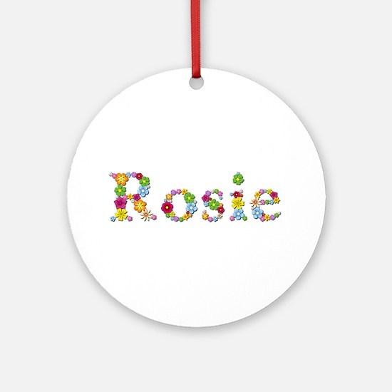 Rosie Bright Flowers Round Ornament