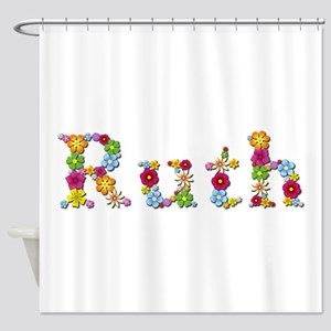 Ruth Bright Flowers Shower Curtain