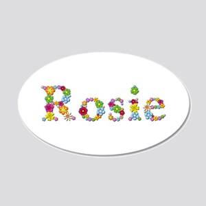 Rosie Bright Flowers 20x12 Oval Wall Decal