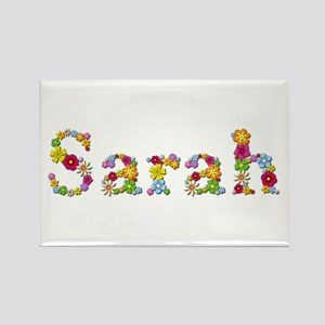 Sarah Bright Flowers Rectangle Magnet