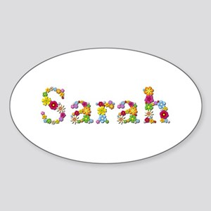 Sarah Bright Flowers Oval Sticker