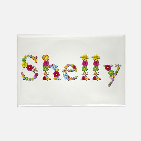 Shelly Bright Flowers Rectangle Magnet
