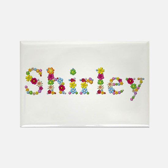 Shirley Bright Flowers Rectangle Magnet