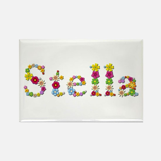 Stella Bright Flowers Rectangle Magnet