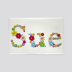 Sue Bright Flowers Rectangle Magnet