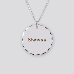 Shawna Bright Flowers Necklace Circle Charm