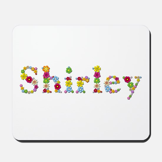 Shirley Bright Flowers Mousepad