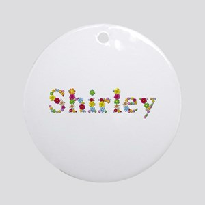Shirley Bright Flowers Round Ornament