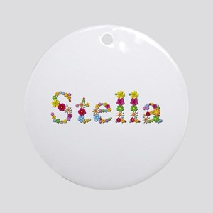 Stella Bright Flowers Round Ornament