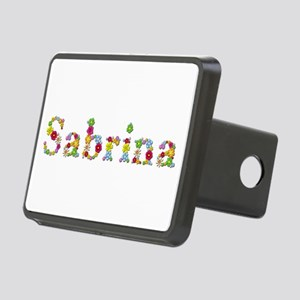 Sabrina Bright Flowers Rectangular Hitch Cover