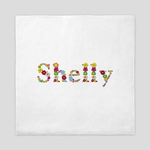 Shelly Bright Flowers Queen Duvet