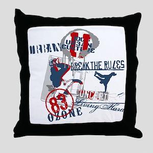 Break the rules Throw Pillow