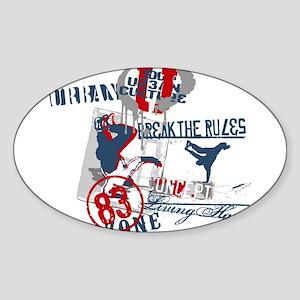 Break the rules Oval Sticker