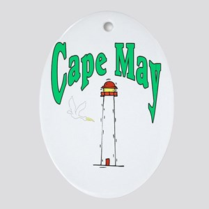 Cape May, New Jersey Oval Ornament