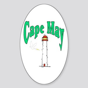 Cape May, New Jersey Oval Sticker