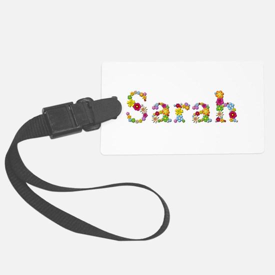 Sarah Bright Flowers Luggage Tag