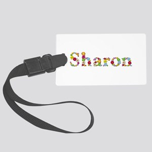 Sharon Bright Flowers Large Luggage Tag