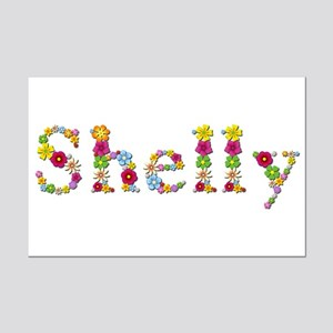 Shelly Bright Flowers Mini Poster Print