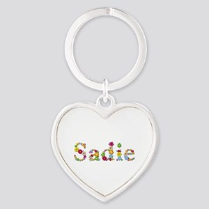 Sadie Bright Flowers Heart Keychain