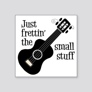 "Frettin 2, black uke Square Sticker 3"" x 3"""