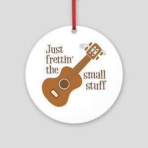 Frettin tan uke Round Ornament