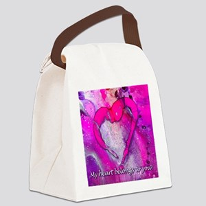 My Heart Belongs to you!  Canvas Lunch Bag