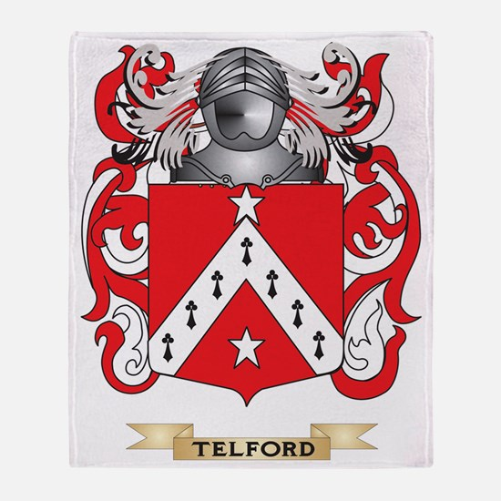 Telford Family Crest (Coat of Arms) Throw Blanket