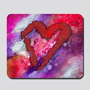 Red Heart with a Splash! Mousepad