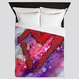 Red Heart with a Splash! Queen Duvet