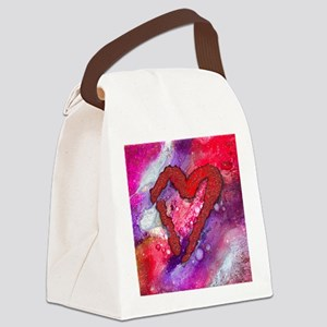 Red Heart with a Splash! Canvas Lunch Bag