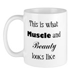 Muscle and Beauty (Black Text Mug