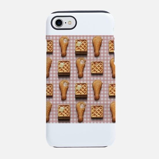 gingham chicken waffles iPhone 7 Tough Case