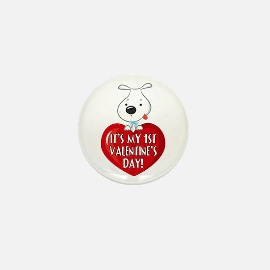 Puppy Dog 1St Valentine's Day Mini Button