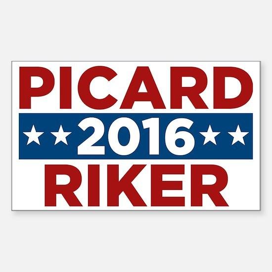 Star Trek Picard Riker 2016 Sticker (Rectangle)
