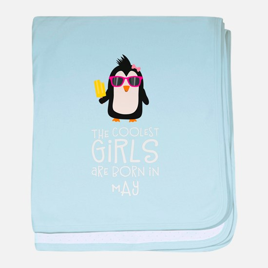 Coolest Girls Birthday in MAY baby blanket