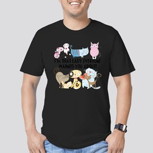 That Cat Lady Men's Fitted T-Shirt (dark)