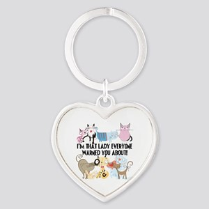 That Cat Lady Heart Keychain