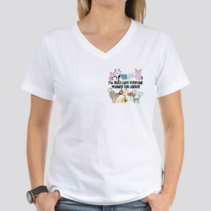 That Cat Lady Women's V-Neck T-Shirt