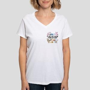 That Cat Lady Women's V-Neck T-Shirt